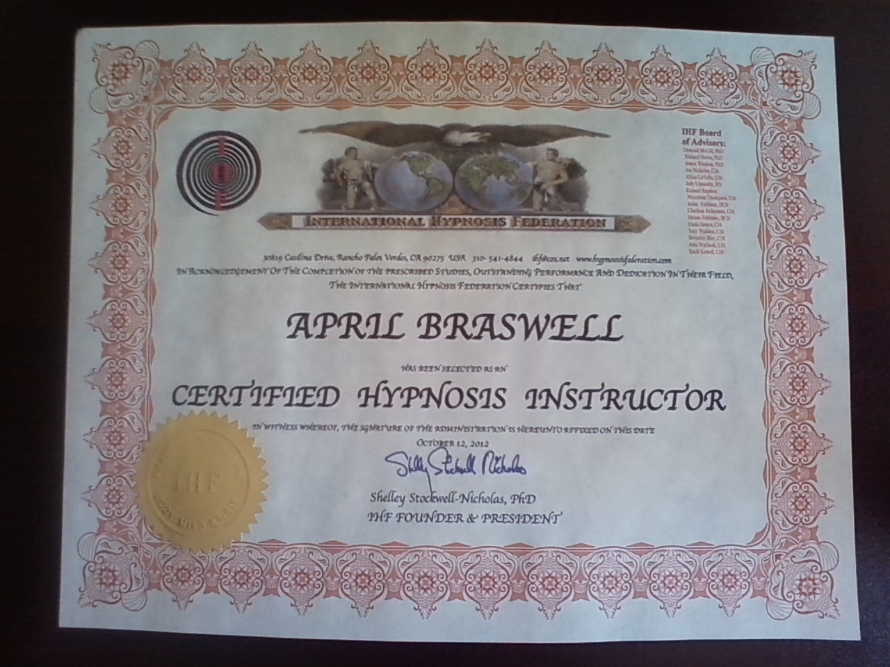April Braswell Hypnotherapy Hypnosis Practice Hypnotist Serving